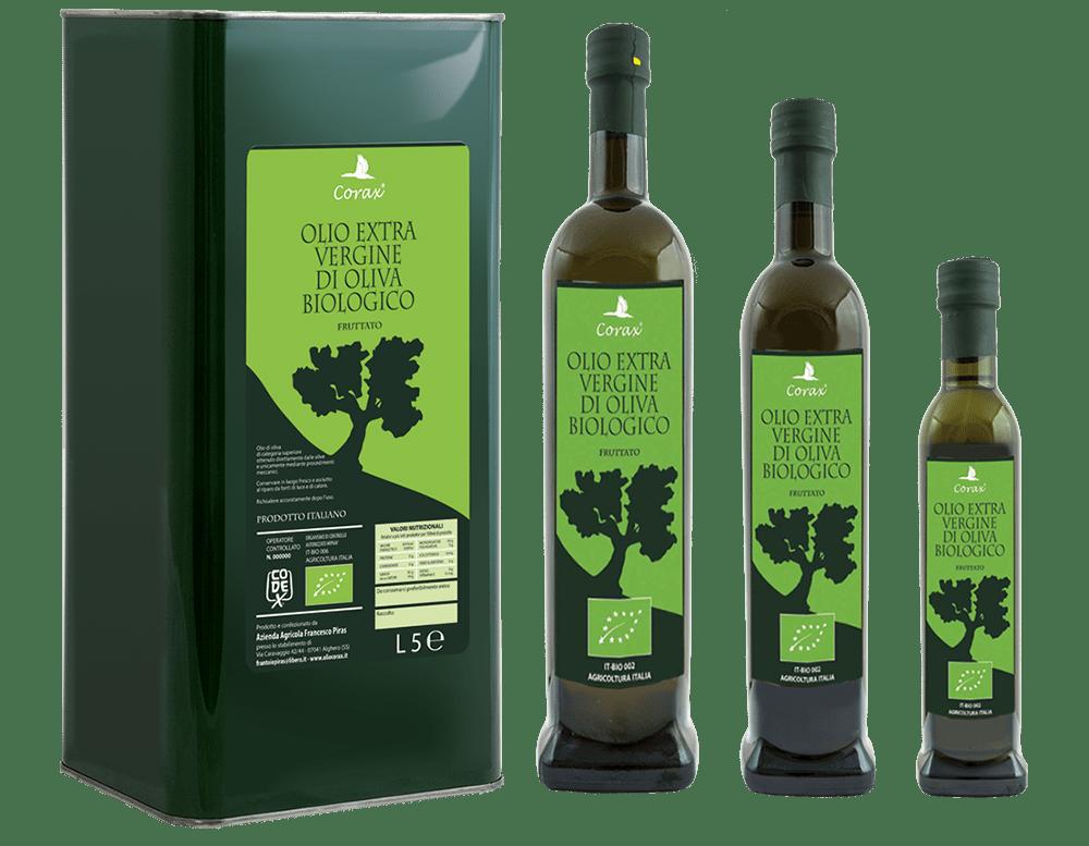 Olio Extravergine d'Oliva Corax Biologico Fruttato